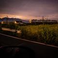 上毛電鉄と赤城山 カラー