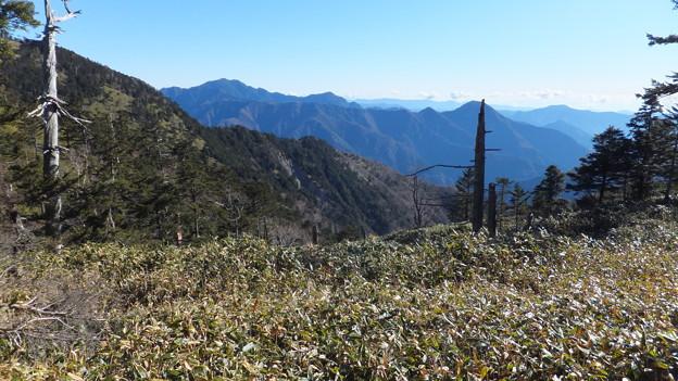 鹿の平より朝日岳、大無間方面