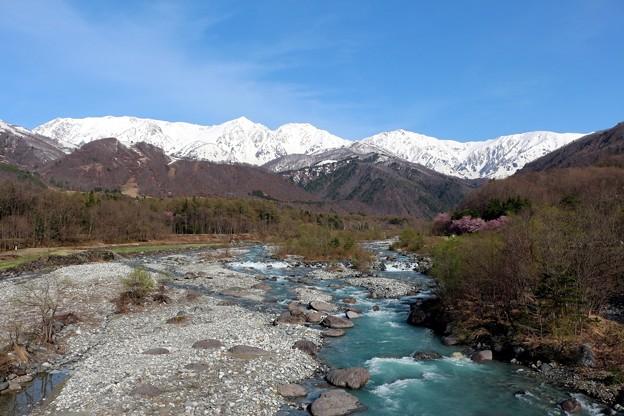 白馬三山と松川