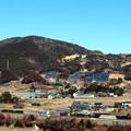写真: 東名高速道路と吉祥山