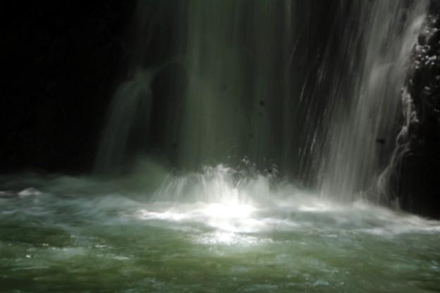 水飛沫の滝壺