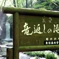 写真: 「竜返しの滝」銘板