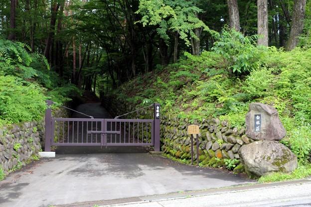 白林荘正門入口