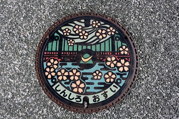 愛知県新城市カラーマンホール