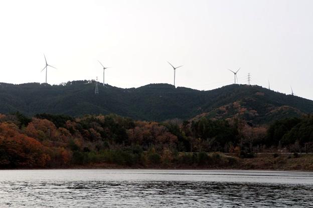 風力発電機といなさ湖