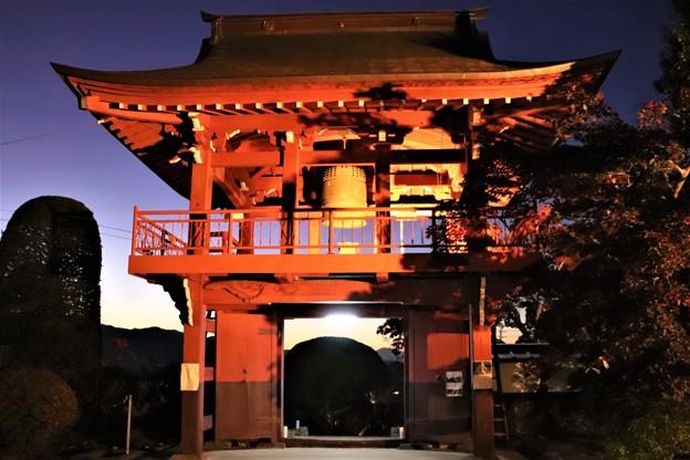 ライトアップの長円寺鐘楼