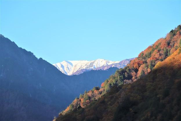 積雪の野口五郎岳