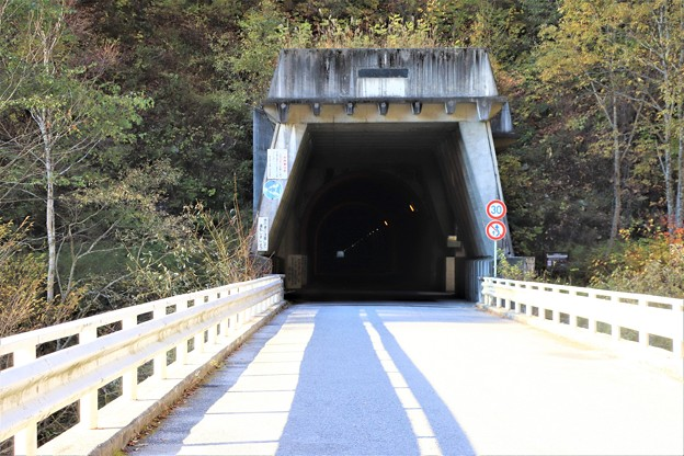 山の神隧道高瀬ダムへの道路