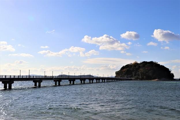竹島橋と結ばれて居る竹島