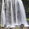 壁状直下型の唐沢の滝