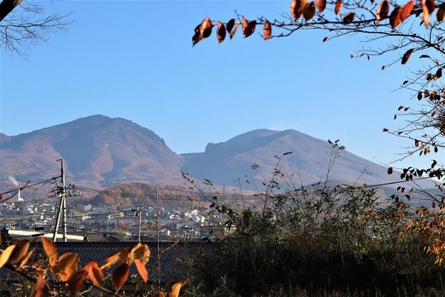 二の丸跡からの浅間山