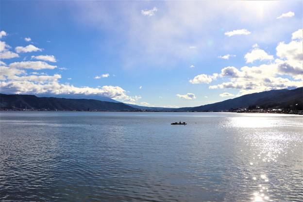 煌めく諏訪湖