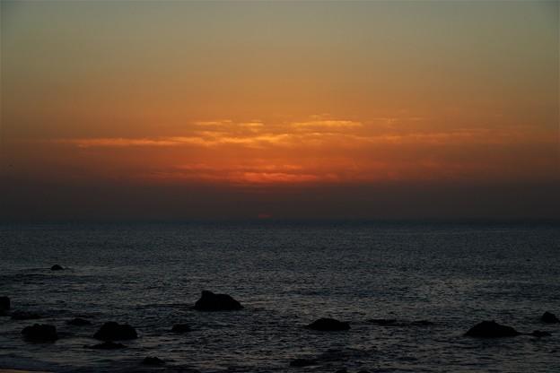 日の出前の朝焼け