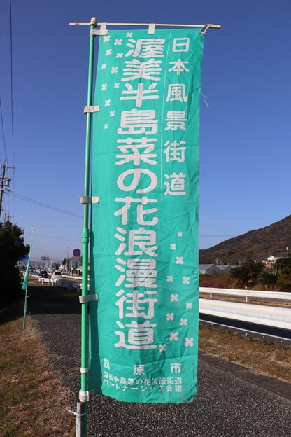 日本風景街道「渥美半島菜の花浪漫街道」幟