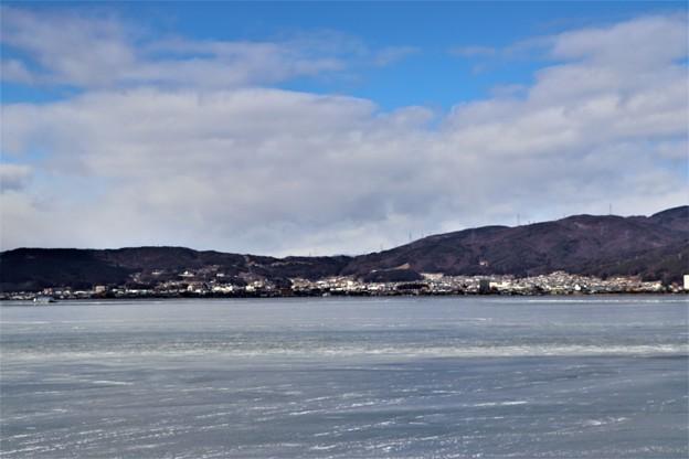 諏訪湖の全面凍結