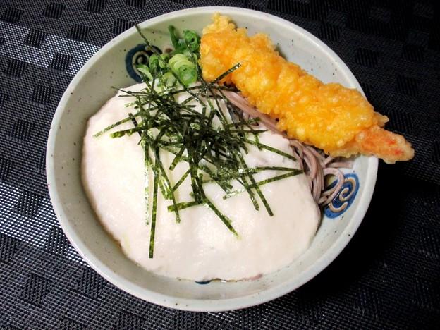 海老天山かけ蕎麦
