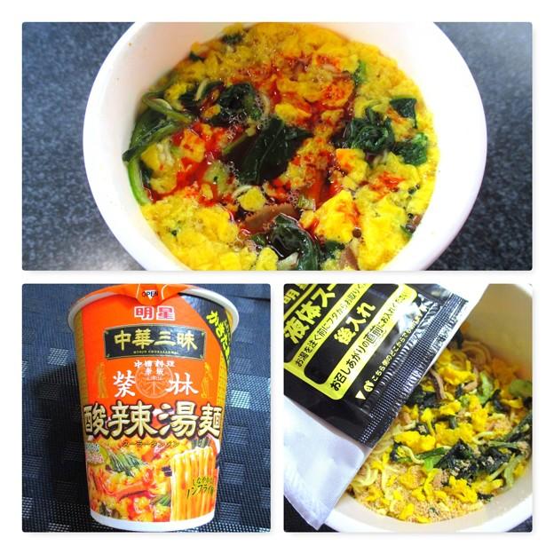 明星 中華三昧 酸辣湯麺 リニューアル縦型ビック
