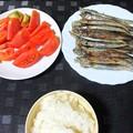 Photos: 子持ちしゃもと冷やしトマト