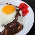 レトルトカレー+目玉焼き