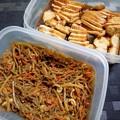 Photos: 作り置きおかず 糸こんにゃくとごぼうの金平&鶏叉焼