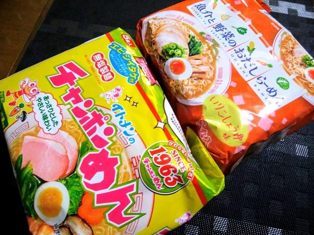 イトメン チャンポンめん&魚介と野菜のおだしのらーめん