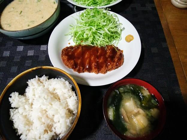 Photos: 麦とろ&とんかつ