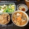 Photos: 炊き込みごはん+けんちんうどん