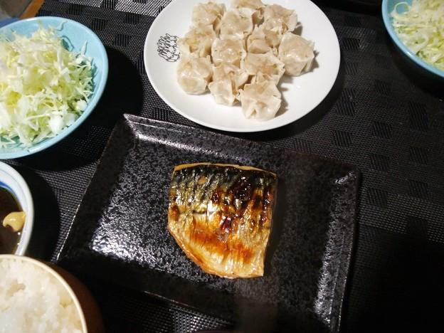 塩鯖と焼売