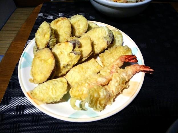 さつまいもと海老の天ぷら