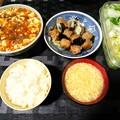 麻婆豆腐&肉団子甘酢