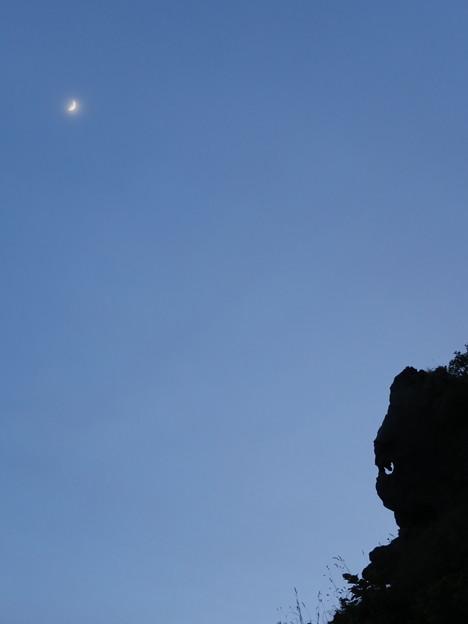 月と猫岩6月19日