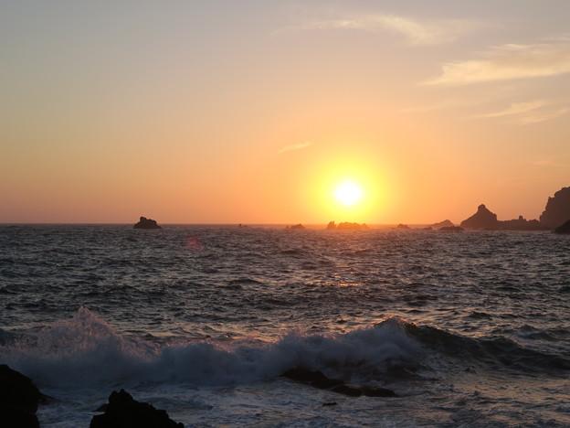 門前の夕陽6月22日
