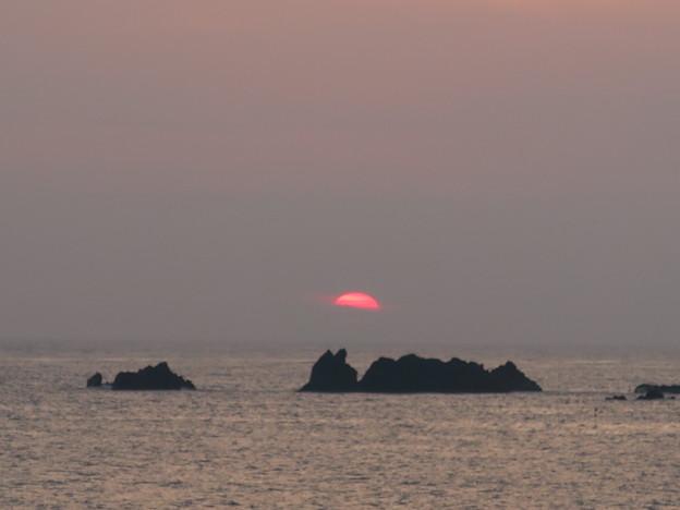 門前の夕陽7月16日