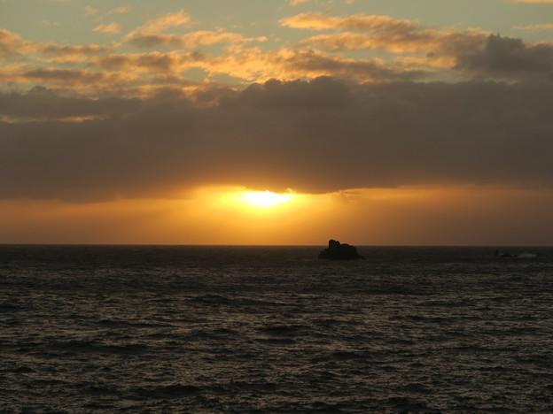 門前の夕陽8月16日
