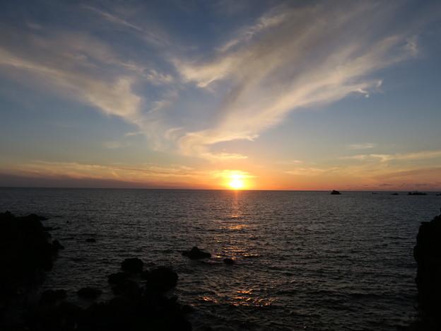 門前の夕陽9月19日