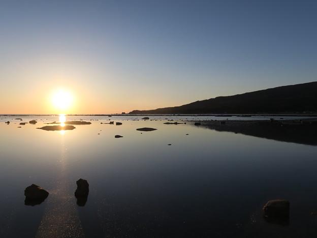 鵜ノ崎夕景10月15日 秋田のウユニ塩湖