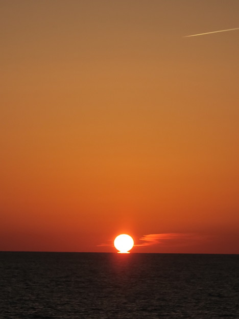 門前の夕陽10月21日
