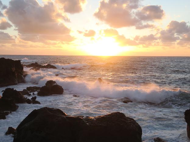 門前の夕陽11月10日