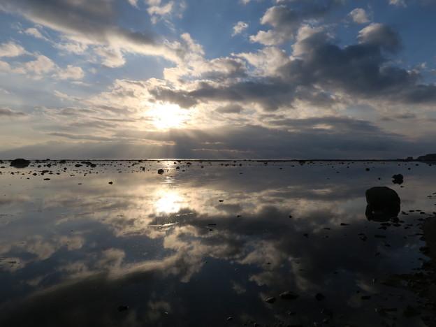 鵜ノ崎夕景1月14日 秋田のウユニ塩湖
