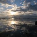 Photos: 鵜ノ崎夕景1月14日 秋田のウユニ塩湖