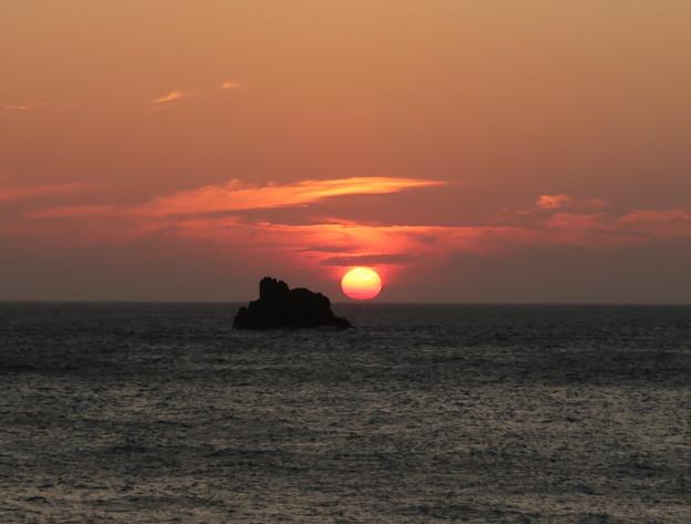 門前の夕陽8月15日