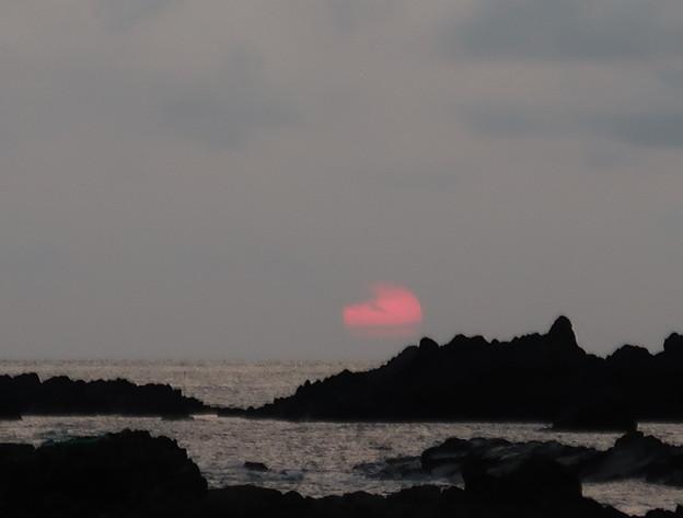 門前の夕陽8月20日