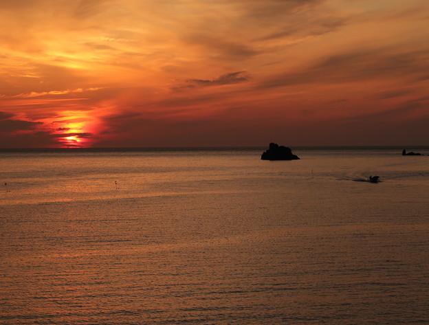 門前の夕陽9月4日