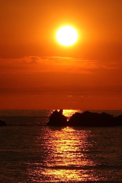 門前の夕陽6月17日