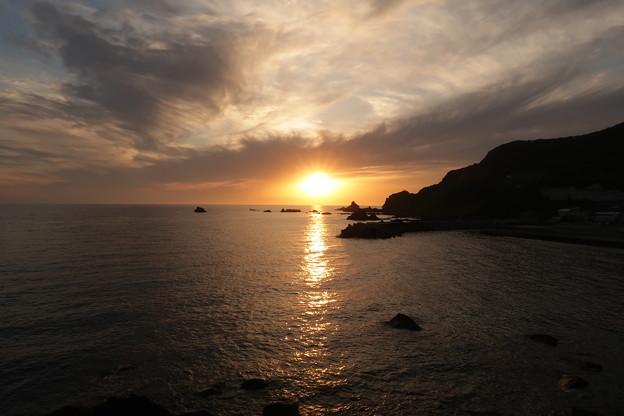 門前の夕陽6月12日