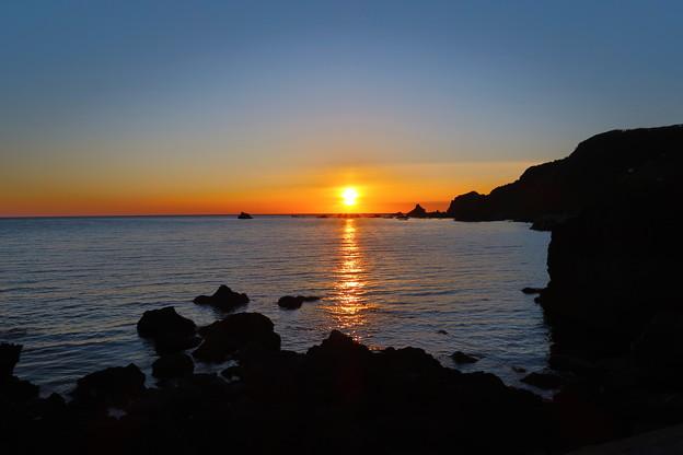 門前の夕陽6月21日
