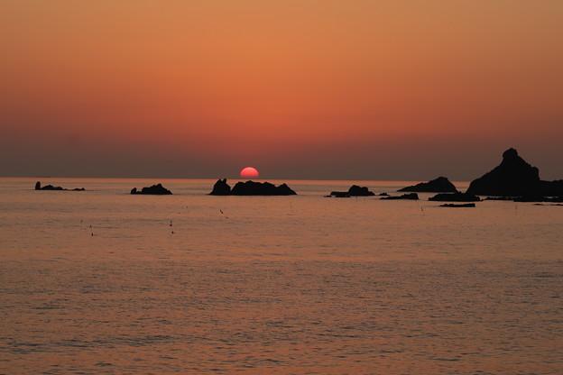 門前の夕陽6月
