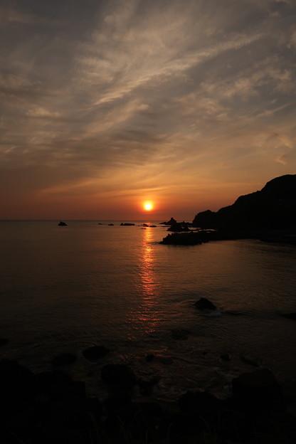門前の夕陽7月3日