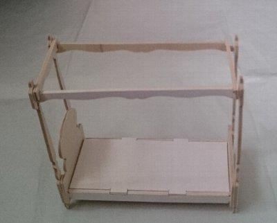 ウッドクラフトプリンセス 天蓋付きベッド
