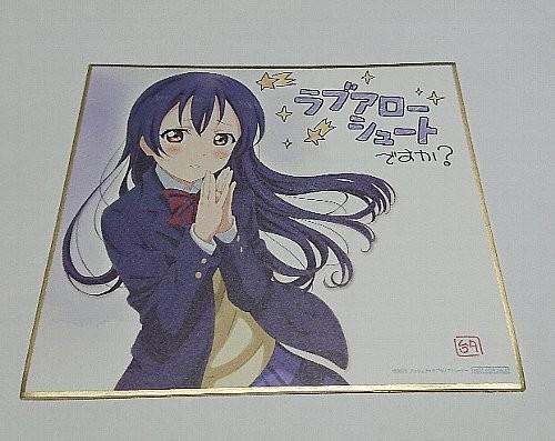 園田海未 描き下ろし複製ミニ色紙 「ラブライブ!The School Idol Movie」